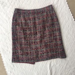 2 / Banana Republic pink tweed skirt